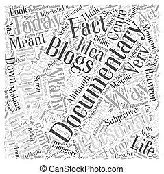 conceito, palavra, pessoal, documentário, blogging, nuvem, história