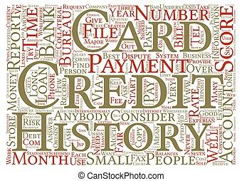 conceito, palavra, texto, crédito, fundo, cartões, seu, nuvem, história