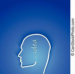conceito, papel, idéia, rosto humano