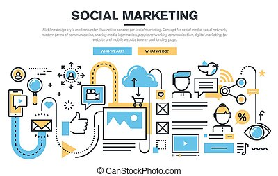 conceito, para, social, marketing