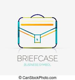 conceito, pasta, negócio, companhia, logotipo, ícone