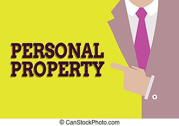 conceito, pessoal, texto, aquilo, móvel, significado, próprio, lata, coisas, letra, tu, property., tomar