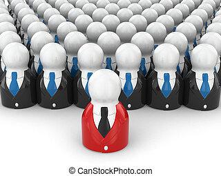 conceito, pessoas, experiência., equipe, leader., branca