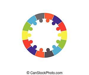 conceito, pessoas, obrigação, ícones, -, cobrança, vetorial, círculo