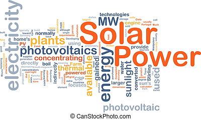 conceito, poder solar, fundo