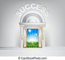 conceito, porta, sucesso