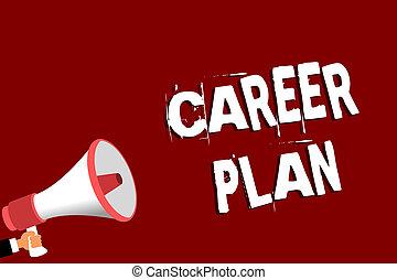 conceito, processo, texto, capacidades, plan., mensagem, seu, alto-falante, segurando, tu, megafone, falando, interesses, loud., significado, fundo, homem, carreira, explorar, ongoing, vermelho, letra, onde