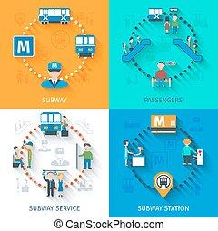 conceito, projeto fixo, metrô