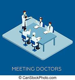 conceito, reunião, doutor