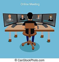 conceito, reunião online