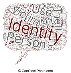 conceito, roubo, texto, wordcloud, fundo, identidade, definir