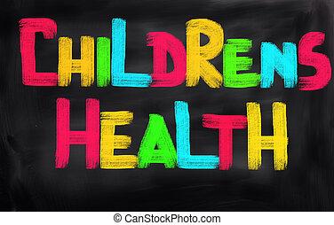 conceito, saúde, childrens