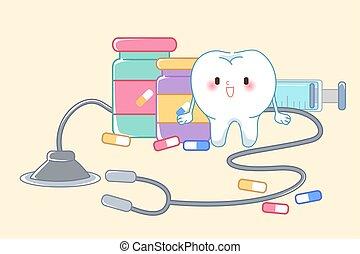 conceito, saúde, dente