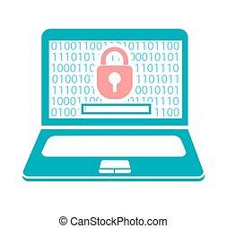 conceito, segurança computador