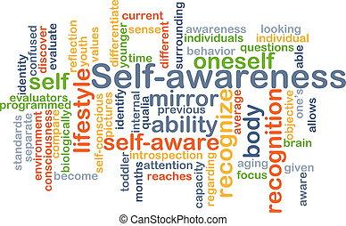 conceito, self-awareness, fundo