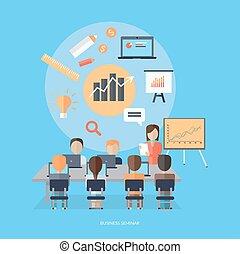 conceito, seminário negócio