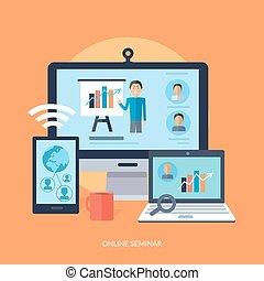 conceito, seminário negócio, online