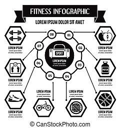 conceito, simples, estilo, infographic, condicão física