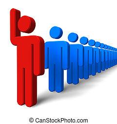 conceito, success/leadership