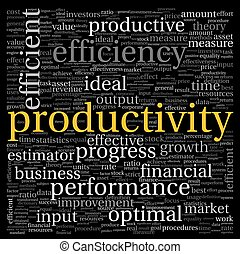 conceito,  tag, produtividade, nuvem