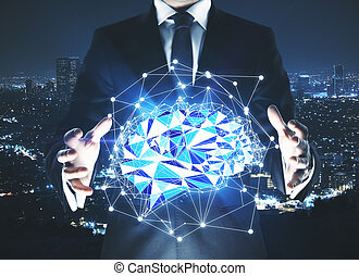 conceito, tecnologia,  Brainstorm, inovação