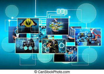 conceito, tecnologia, negócio