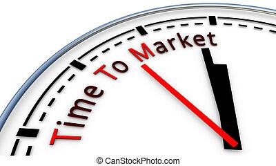 conceito, tempo, mercado, relógio