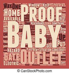 conceito, texto, como, wordcloud, fundo, bebê, lar, seu, prova