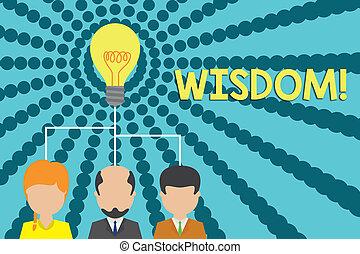 conceito, texto, executivo, startup, idéia, compartilhar, algo, qualidade, grupo, conhecimento, três, escrita, wisdom., bom, julgamento, pessoas, significado, meeting., icon., experiência, equipe, letra, tendo