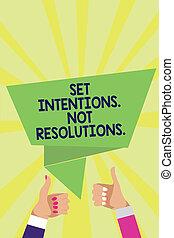 conceito, texto, jogo, polegares, origami, intentions., raios, experiência., positivo, início, fala, novo, bolha, alcance, mulher, significado, metas, mãos, não, aprovação, homem, cima, escolhas, resolutions.., letra