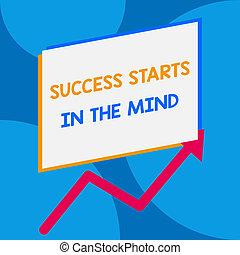 conceito, texto, mente, aquilo, um, jogo, outro, em branco, ir, seu, positivity, longo, escrita, mind., maneira, aumento, retângulo, acima, negócio, ziguezague, sale., cima, palavra, sucesso, começa, lata, seta