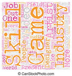 conceito, texto, oportunidades trabalho, wordcloud, fundo