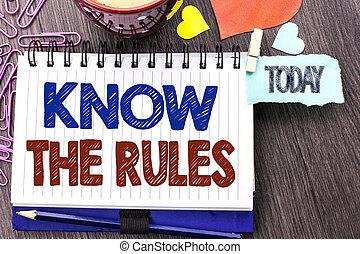 conceito, texto, rules., escrita, logo, escrito, livro, alfinetes, hoje, it., ser, ciente, regulamentos, significado, caderno, saber, fundo, procedimentos, protocols, madeira, corações, letra, leis