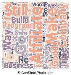 conceito, texto, wordcloud, affiliate, fundo, não, já,...