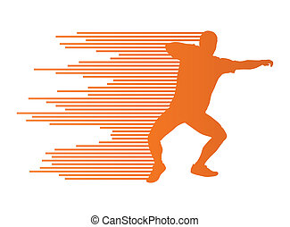 conceito, tiro, atlético, vetorial, fundo, ponha