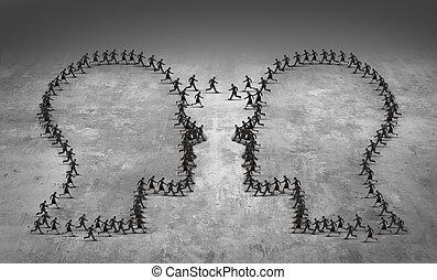 conceito, trabalho equipe, negócio, liderança