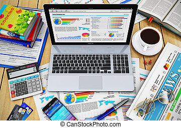 conceito, trabalho, modernos, negócio
