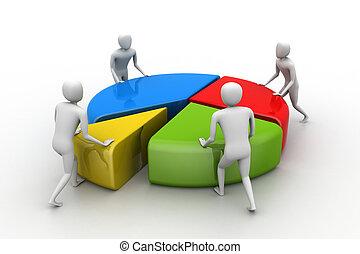 conceito, trabalho, negócio, equipe