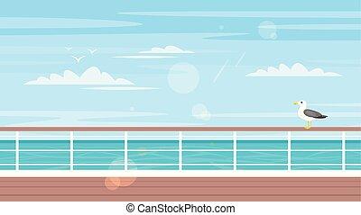 conceito, turismo, cruzeiro, viagem