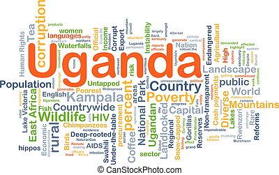 conceito, uganda, fundo