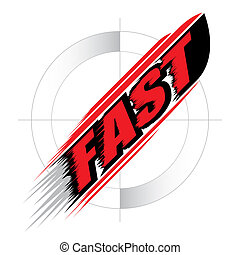 conceito, vetorial, acelere rapidamente