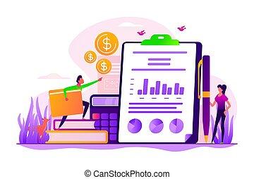 conceito, vetorial, declaração, ilustração, renda