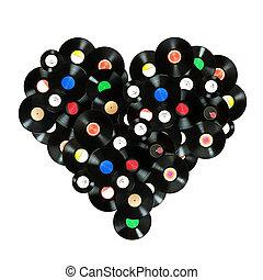 """conceito, """"we, amor, music"""", coloridos, forma coração,..."""