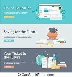 conceitos, educação, online