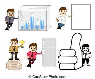 conceitos, jogo, vário, caricatura, vectors