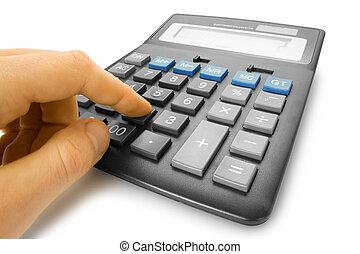 conceitos negócio, calculadora