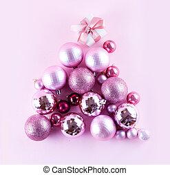 conceitual, árvore, natal