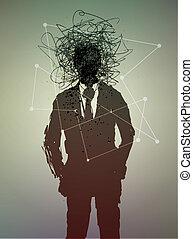 conceitual, estado, poster., mental, human