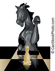 conceitual, jogo, xadrez
