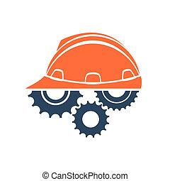 conceitual, logotipo, construção